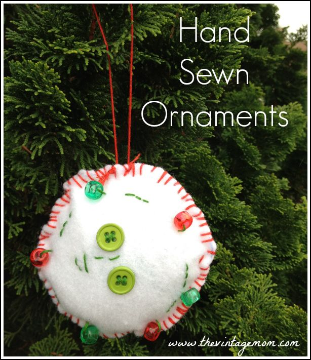 DIY Children's Christmas Craft – Hand Sewn Ornament