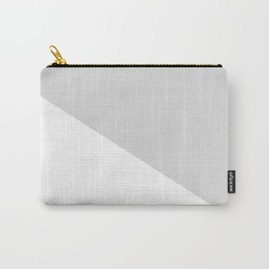 Grey Carry-All Pouch by Bravely Optimistic | Society6
