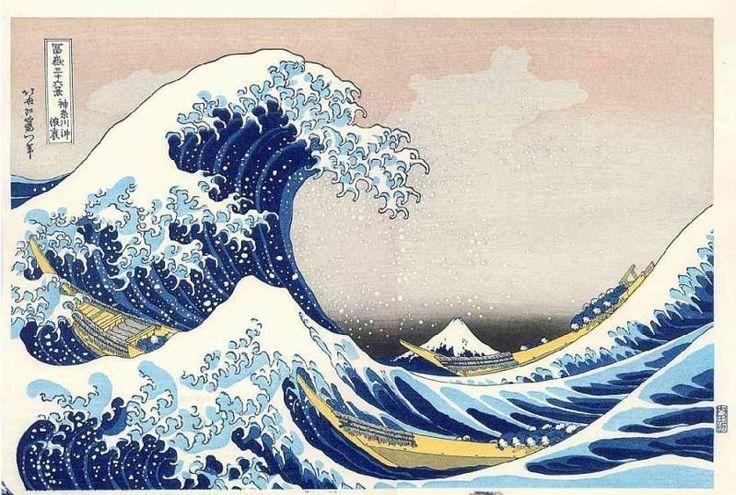 Jewelry: Hokusai Wave Japanese Painting Beading P