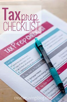 Keep your documents in order with this easy-to-use tax prep checklist. A must for filing your own taxes, or hiring a CPA!