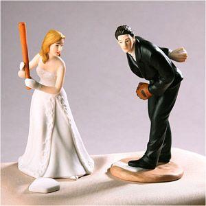 For the grooms cake. WeddingDepot.com ~ Wedding Cake Topper - Baseball Groom ~