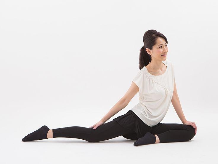 """股関節が硬いまま放っておくことは今は良くても将来のためにはなりません!そこで、カリスマエステティシャン・桜香純子さんに自宅で""""ながら""""でもできる股関節を柔らかくするストレッチの方法について教えていただきました。"""
