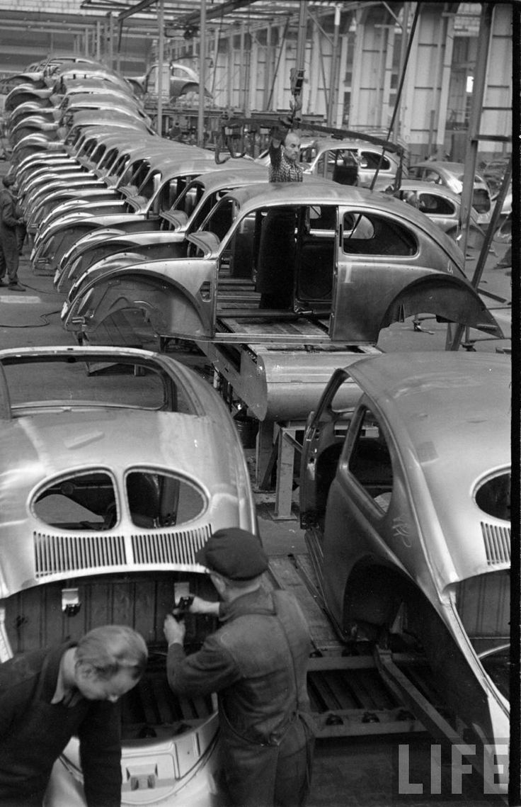 The assembly line was used to make mass production faster. The automobile was one product that was put together using the assembly line.