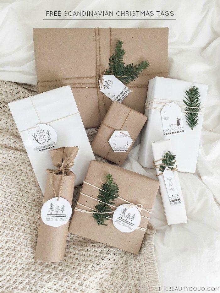Scandinavian Paper Gifts Decorating новогодняя упаковка подарков своими руками