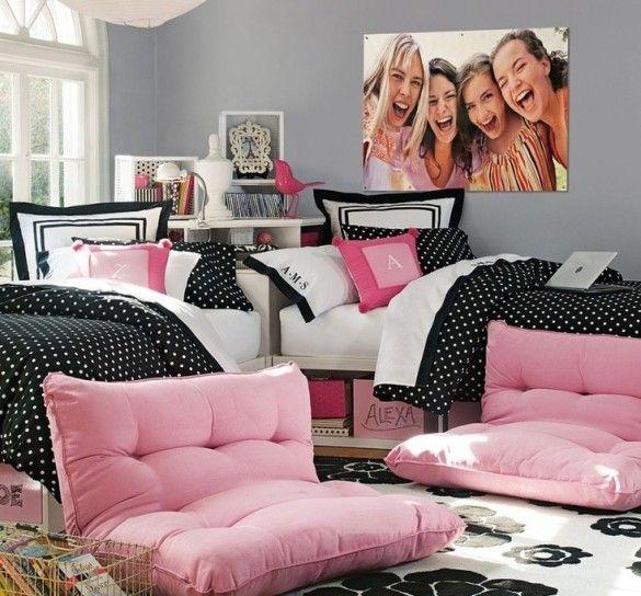 Grande foto in camera da letto