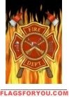 Fire Dept Garden Flag