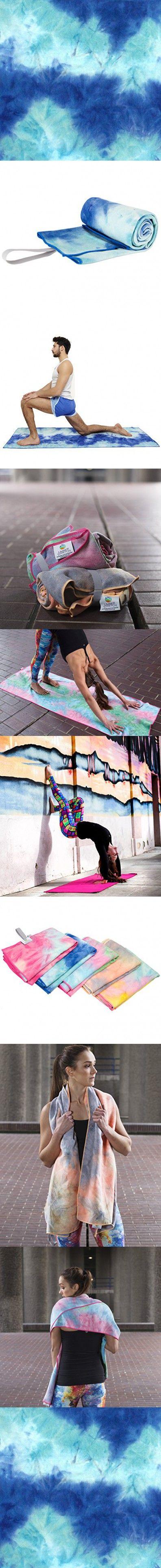 Limber Stretch Yoga Mat towel - Microfiber Bikram Hot Yoga Towel - Non Slip and Sweat Absorbent perfect for Bikram, Ashtanga, Vinyasa yoga