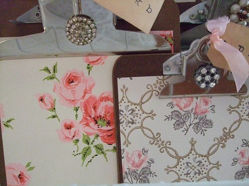 Wallpaper Clipboards by athingforroses, via Flickr