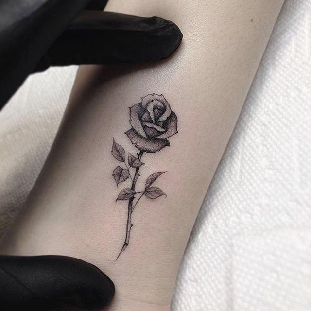 Small Rose Tattoos Popsugar Beauty Beautytatoos Small Rose Tattoo Tiny Rose Tattoos Beauty And The Beast Rose Tattoo