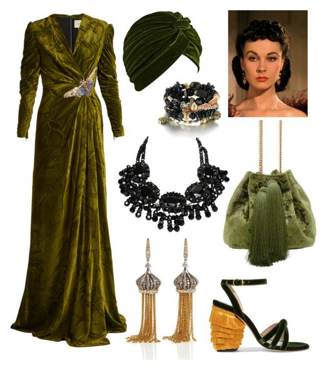 """""""Scarlett O'Hara Inspired Outfit"""" by miwemporium92 on Polyvore featuring MR by Man Repeller, CHARLES & KEITH, Gucci and Annoushka"""