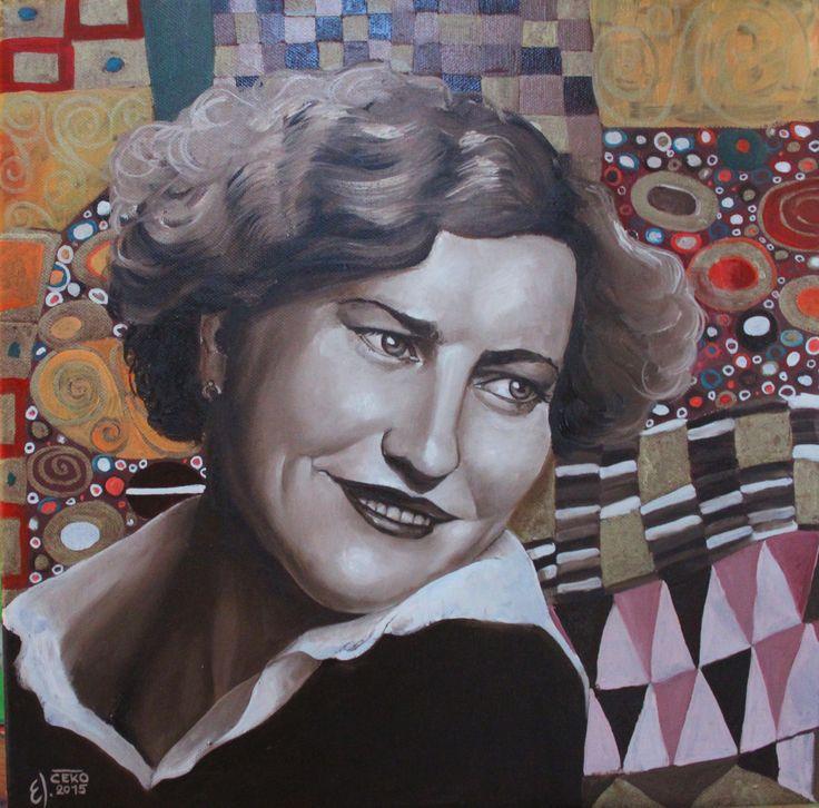 woman art portreit inspirated by Gustav #Klimt