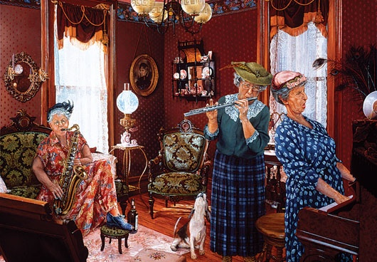 Girls in the Band, Susan Brabeau (American) #old women in art#