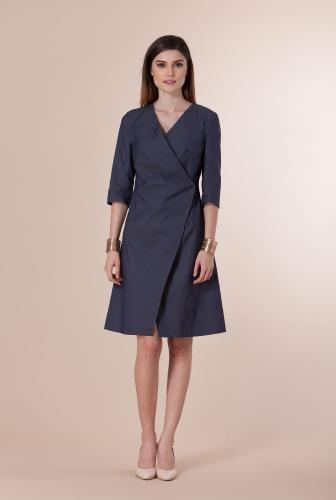 Rochie petrecuta din denim elastic SR01DW -  Ama Fashion