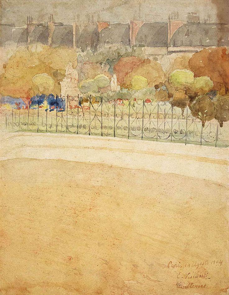 Jardin des Tuilleries 1904 by Eliseu Visconti (Italian/Brazilian 1866-1944)