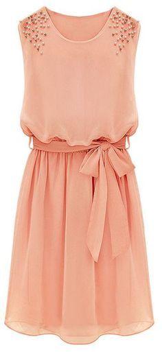 vestido en rosa