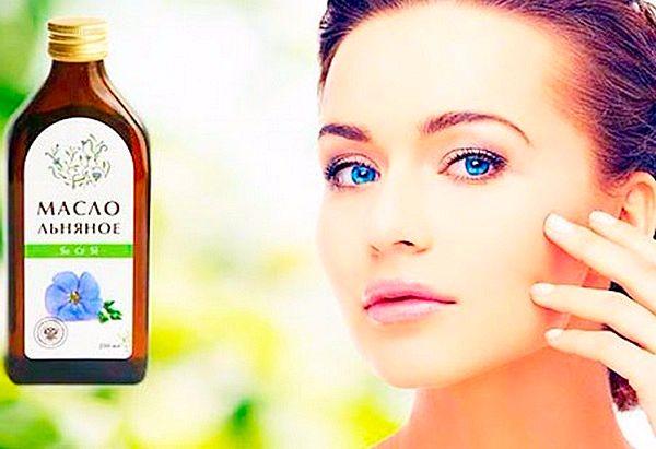 Льняное масло - химический состав. Лечебные свойства. Правила применения. Меры предосторожности. Маски от морщин для лица с льняным маслом.