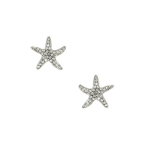 A little larger than a dime these dancing Starfish Cuties are a great way to keep summer with you all winter long. Shiny in Silver with Clear Rhinestone Crystals. Post Starfish Post Earring / Rhinesto