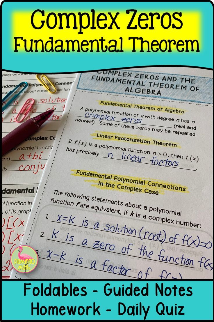 Complex zeros of polynomials precalculus unit 2
