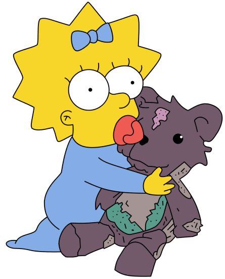 Maggie Simpson and BoBo