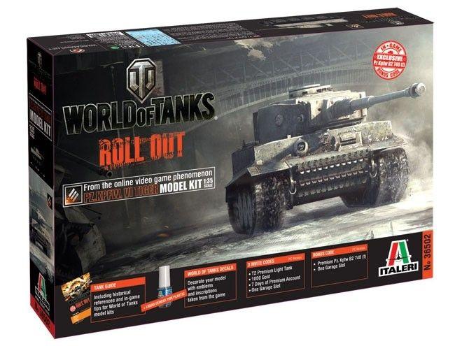 Model Italeri 36502 Tiger I World of Tanks, plastikowy model niemieckiego czołgu do sklejania wraz z kodami do gry WOT.