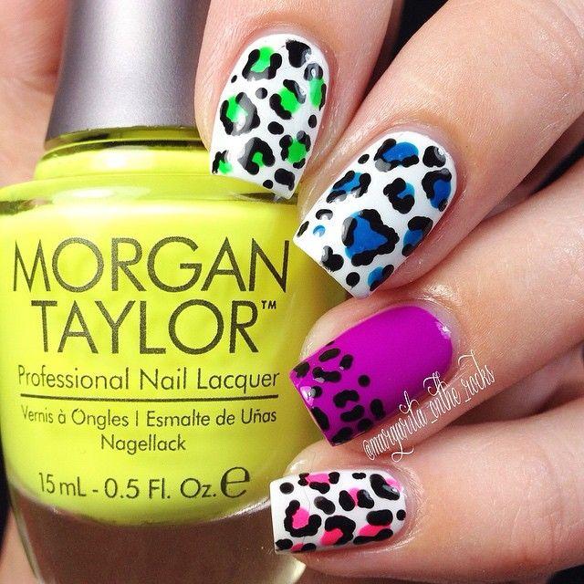 Colorful leopard #nailart #manicure #nails #naildesign #manicureideas #leopardnails