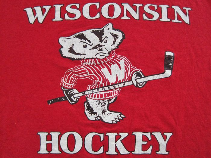 Wisconsin Badgers Hockey Logo | Details about SUPER RARE!! 80s vtg WISCONSIN BADGERS HOCKEY T SHIRT