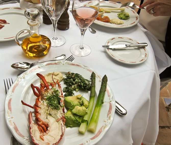 Marbella Club lunch buffet, looks fantastic