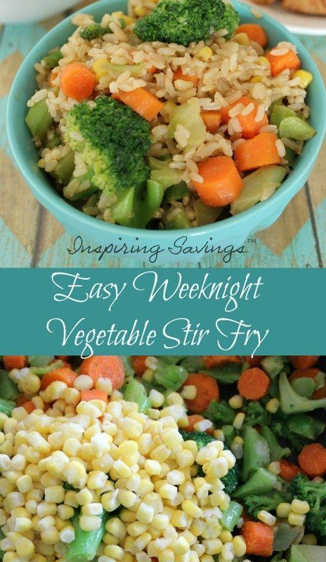 The kids just got home, you just got home and yet you have to head out to another sports event in a few hours. So what is for dinner Easy Weeknight Vegetable Stir Fry of coarse.