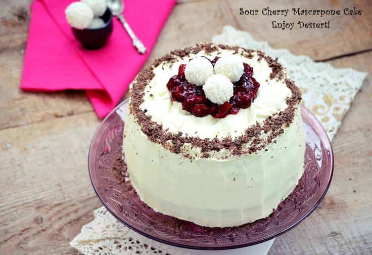 Tort de ciocolata cu visine si mascarpone_1