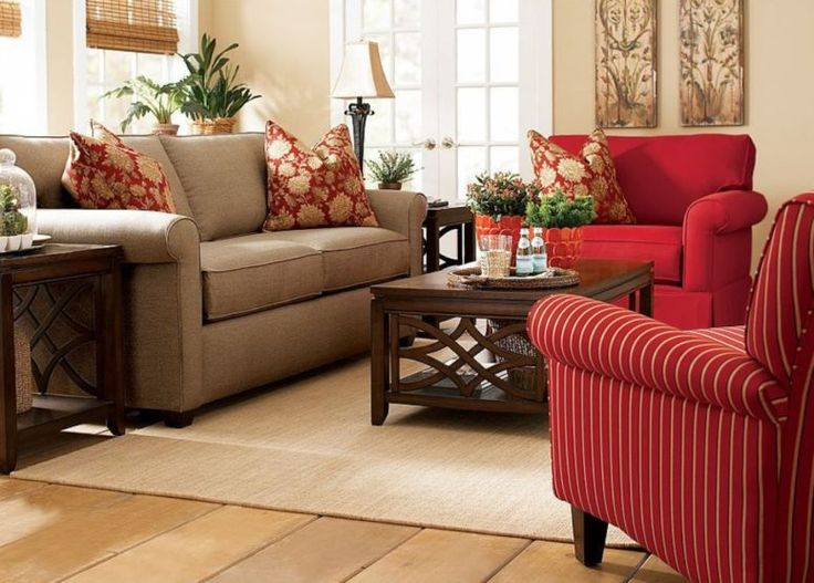 237 best images about red and brown living room on for Cream and red living room designs