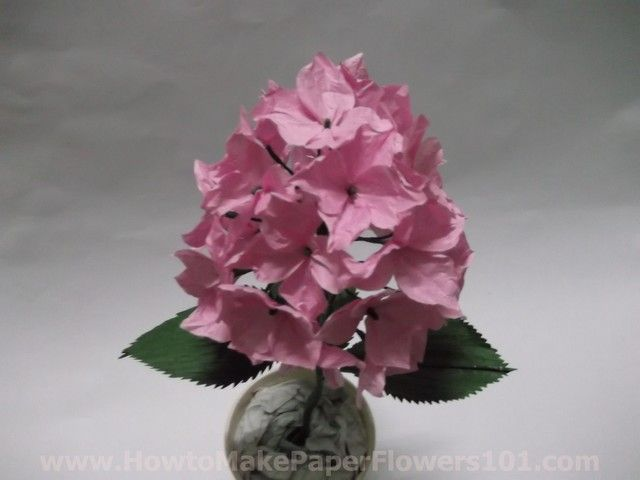 paperhydrangeaflowers41 How to Make Your Own Paper Flowers   Paper Hydrangea Flowers pictures