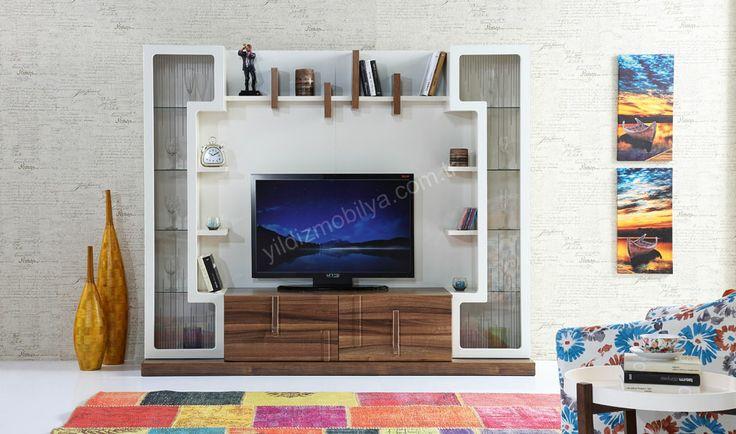 Tempo Tv Ünitesi #tv #mobilya #modern #kitaplık #furniture #yildizmobilya #pinterest  http://www.yildizmobilya.com.tr/