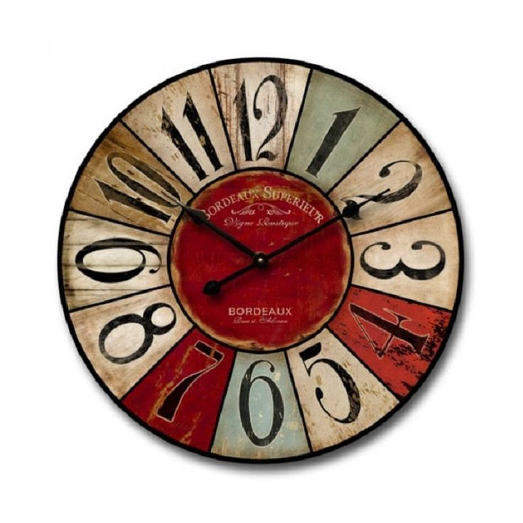 """Can you imagine one of these gorgeous Shabby Elegance wall clocks in your home?! Don't get me started on how amazing it would look! These wall clocks are made from wood and are """"antiqued"""" in all the right places to really give that Shabby Elegance decor,"""