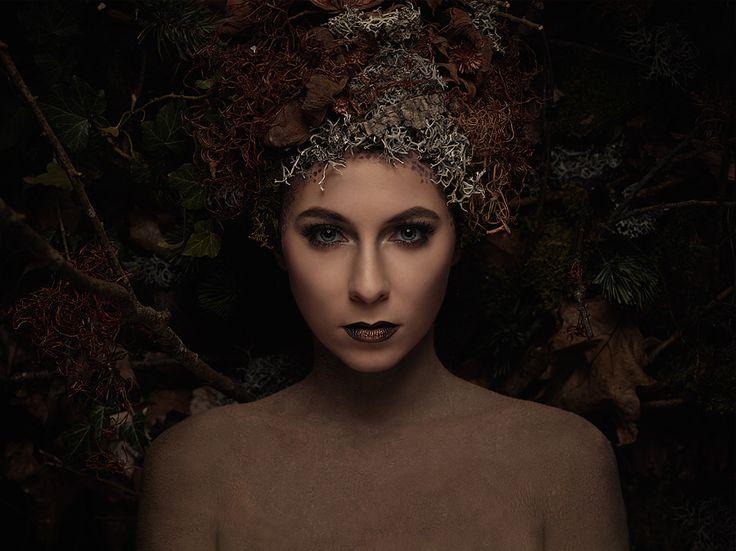 Forest   Fotograf: Michael Mueller Photography  Model: Blufanie Headpiece &Make-up: VisAArt Franziska Hanke