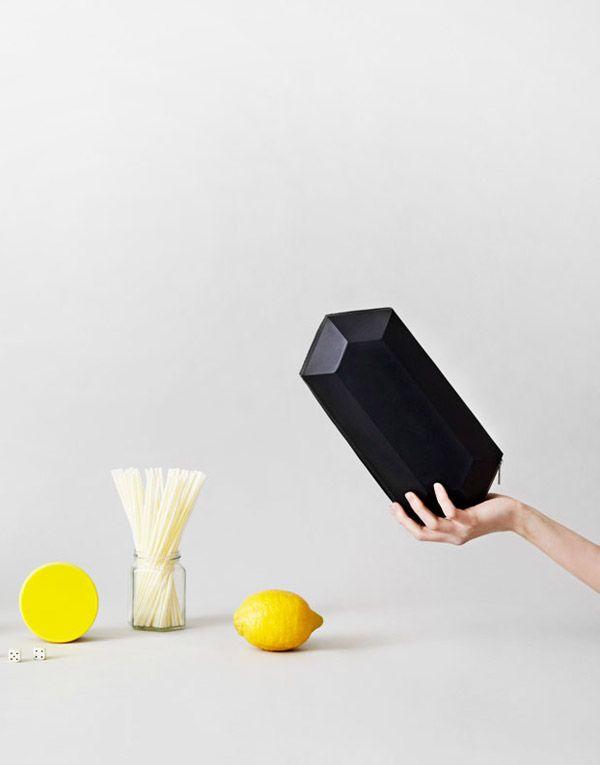 Bag by Australian-born, Berlin based Rebecca Martin of Alpha Cruxis.  Photo – Monika Holzner, art direction / styling – Rebecca Martin. Model – Svenja Y Seidel.