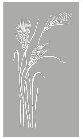 Grass Stencils Large Wild Rye Grass Stencil Wild Grasses