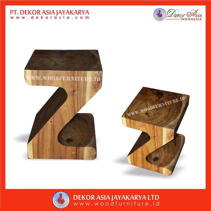 Wooden Z Suar Stool