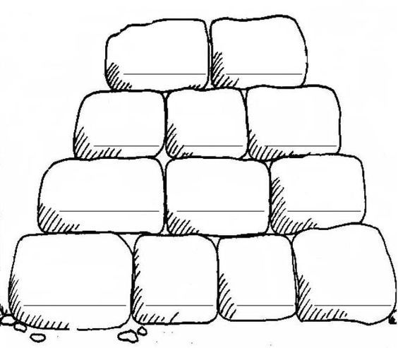 coloring pages stones - photo#7