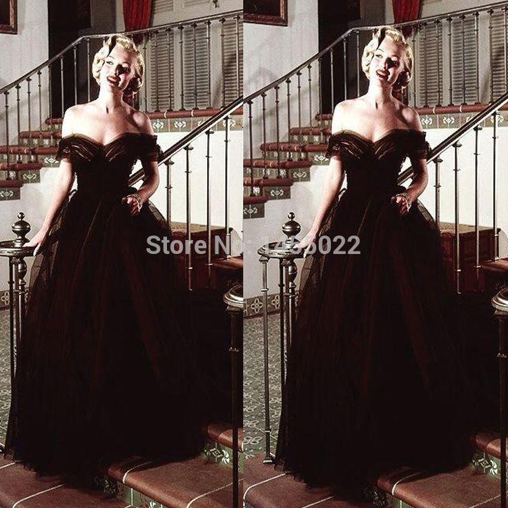 Black tiered evening dress