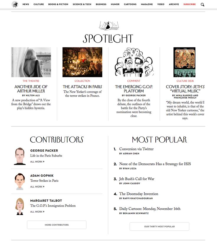 The New Yorker offers many paths to content