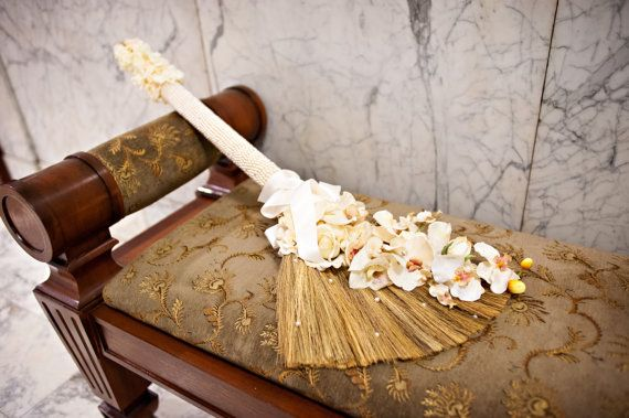 Beaded Handle Wedding Jumping BroomNewly by marayahscreations, $138.00