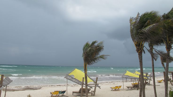 It's hurricane season in paradise, Tulum.