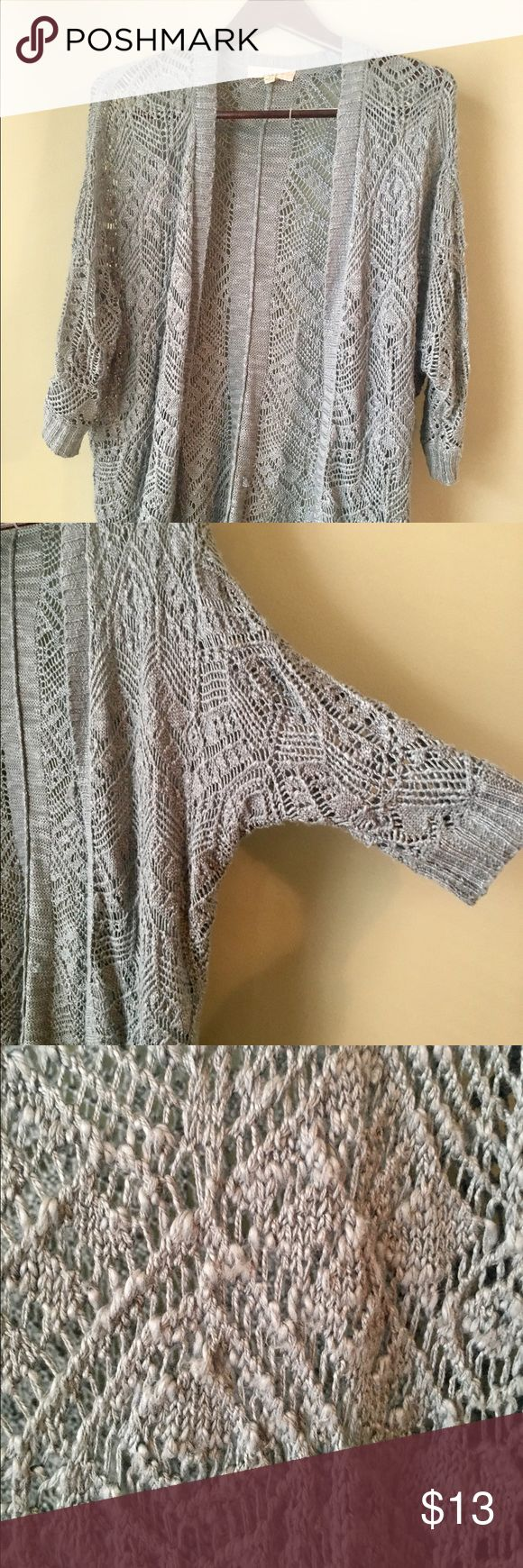 Baby Blue Batwing Cardigan Sweet Cardigan. Perfect for cool summer nights over a tank top. Sweaters Cardigans