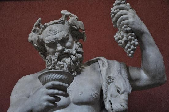 Baccus the Roman god of wine women and song