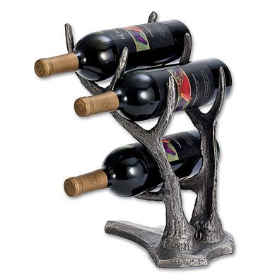 Iron Deer Antler Wine Bottler Holder | King Ranch