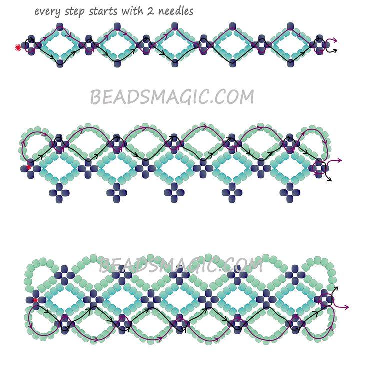 free pattern for bracelet santorini magic