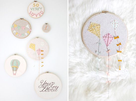 Bunting, Mobiles & Embroidery Hoops