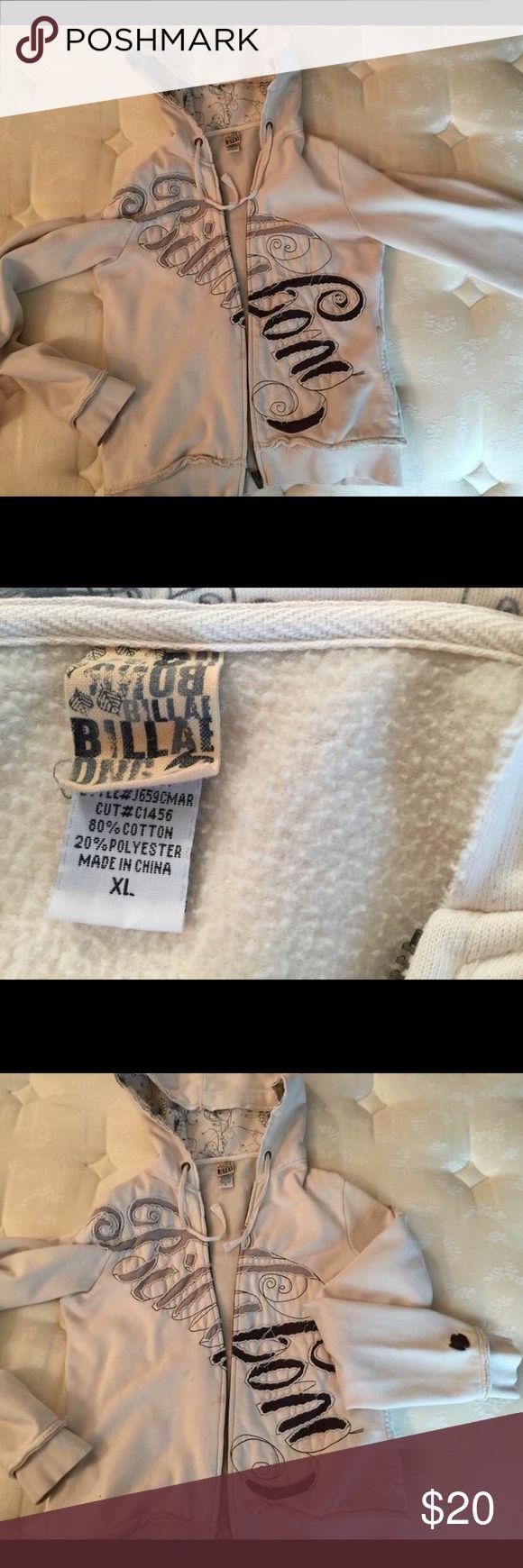 Billabong Women's zip up hoodie size XL Cream colored zip up hoodie Billabong Jackets & Coats