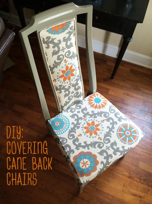 Tessa McRae: DIY: Covering Cane Back Chairs