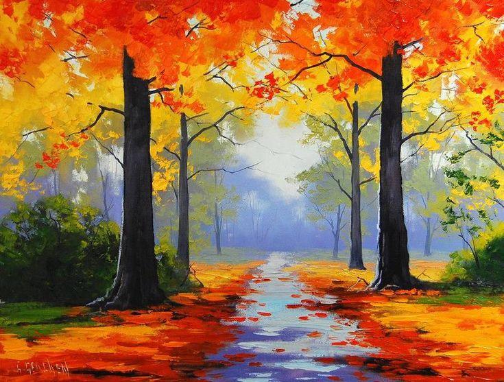 Днем рождения, картинки пейзаж осень для срисовки
